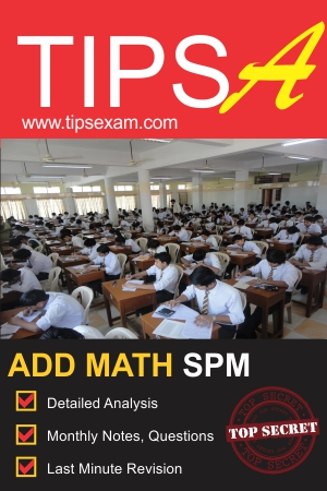 Spm add math exam tips